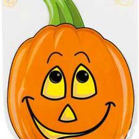 Shaped Smiling Pumpkin with Drawstring Party Bags