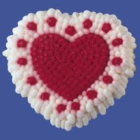 Doily Hearts Icing Decorations