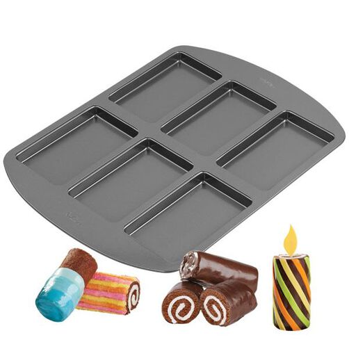 Wilton 6-Cavity Coil Cakes Mini Cake Pan 2105-3645