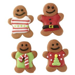 Wilton Christmas Gingerbread Men With Sweaters Royal Icing Decorations, 12-Ct.