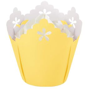 Yellow Flower Pleated Baking Cup