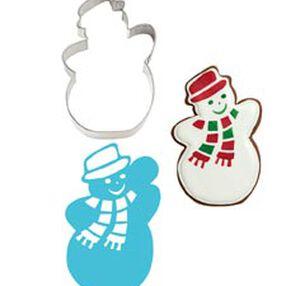 Snowman Stencil-A-Cookie