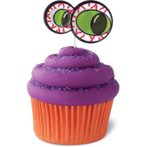 monster eyes halloween cupcake toppers