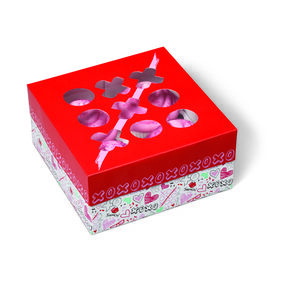 Wilton Valentine?s Day Doodles Square Treat Boxes, 3-Ct.
