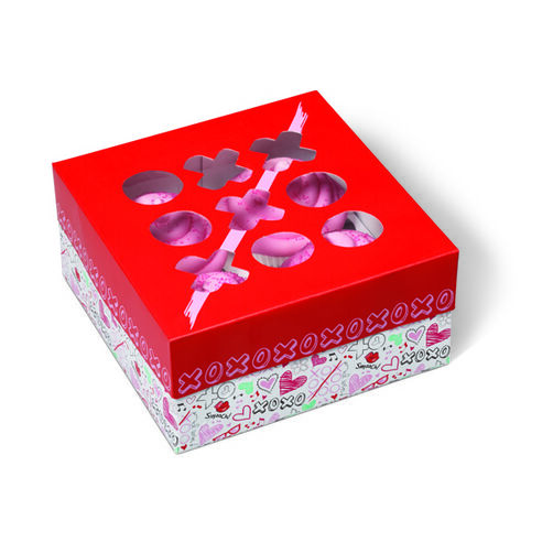 Valentine/s Day Doodles Square Treat Boxes