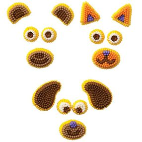 Animals Make-A-Face Icing Decorations