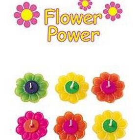 Flower Power Floating Candles Set