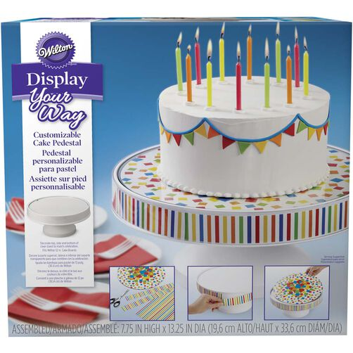 Display Your Way Customizable Cake Pedestal