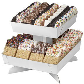 Wilton 2-Tiered White Cookie and Treat Stand 1512-0705