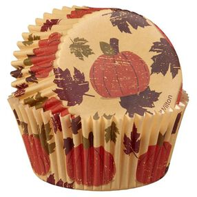 Wilton Autumn Pumpkin Fresh Baked Standard Size Baking Cups, 50 Ct.