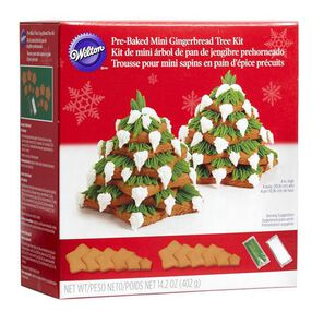 Wilton Pre-Baked Mini Gingerbread Tree Kit