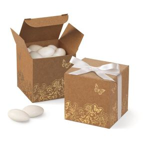 Wilton® Kraft Gold Foil Favor Boxes, 25 Ct.