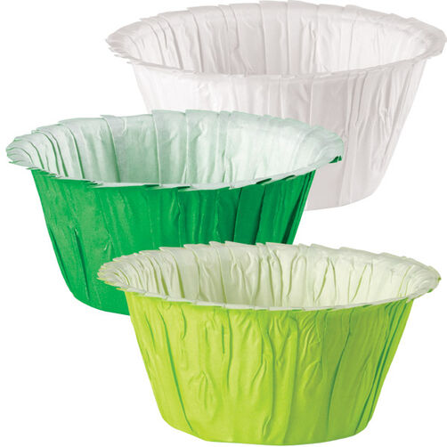 Assorted St Patrick's Day Ruffle Baking Cups