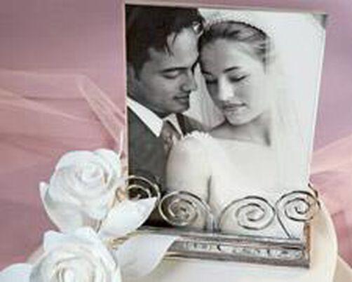 Photo Frame Wedding Topper