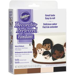 Decorator Preferred Natural Skin Tone Fondant Multipack