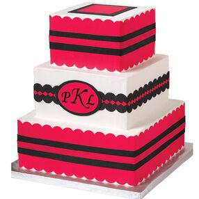 Distinctive Monogram Cake