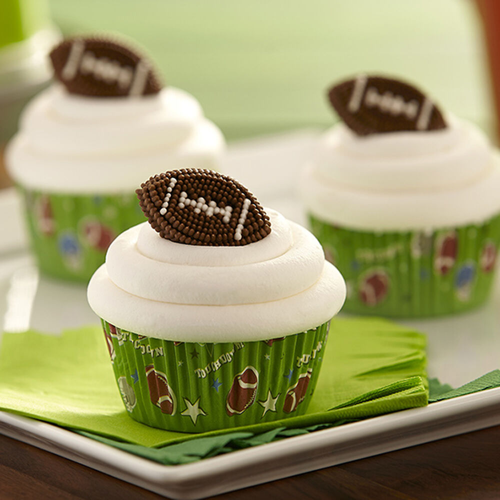 Easy Football Cupcakes Wilton