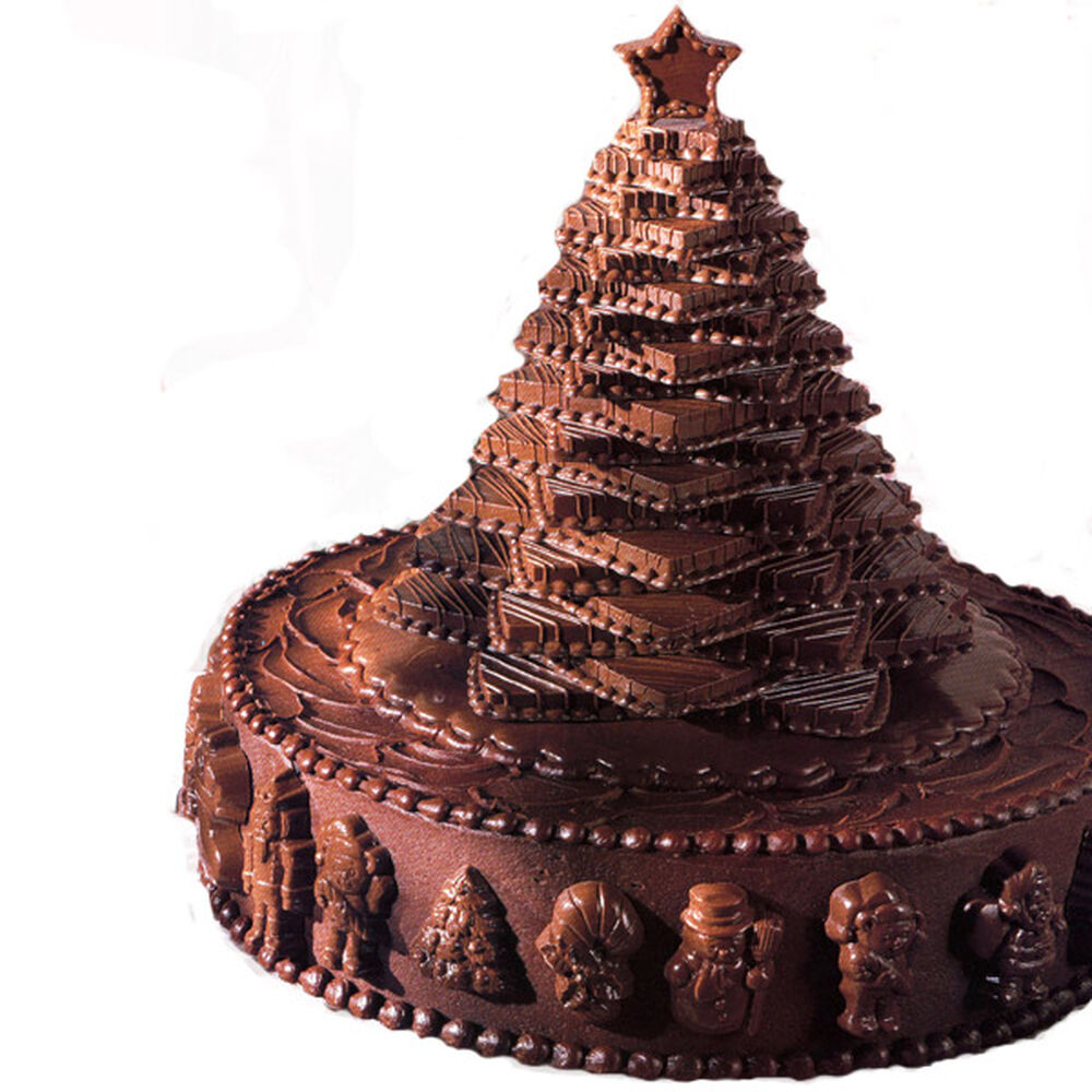 Chocolate Cake Christmas Design : Chocolate Christmas Tree Cake Wilton