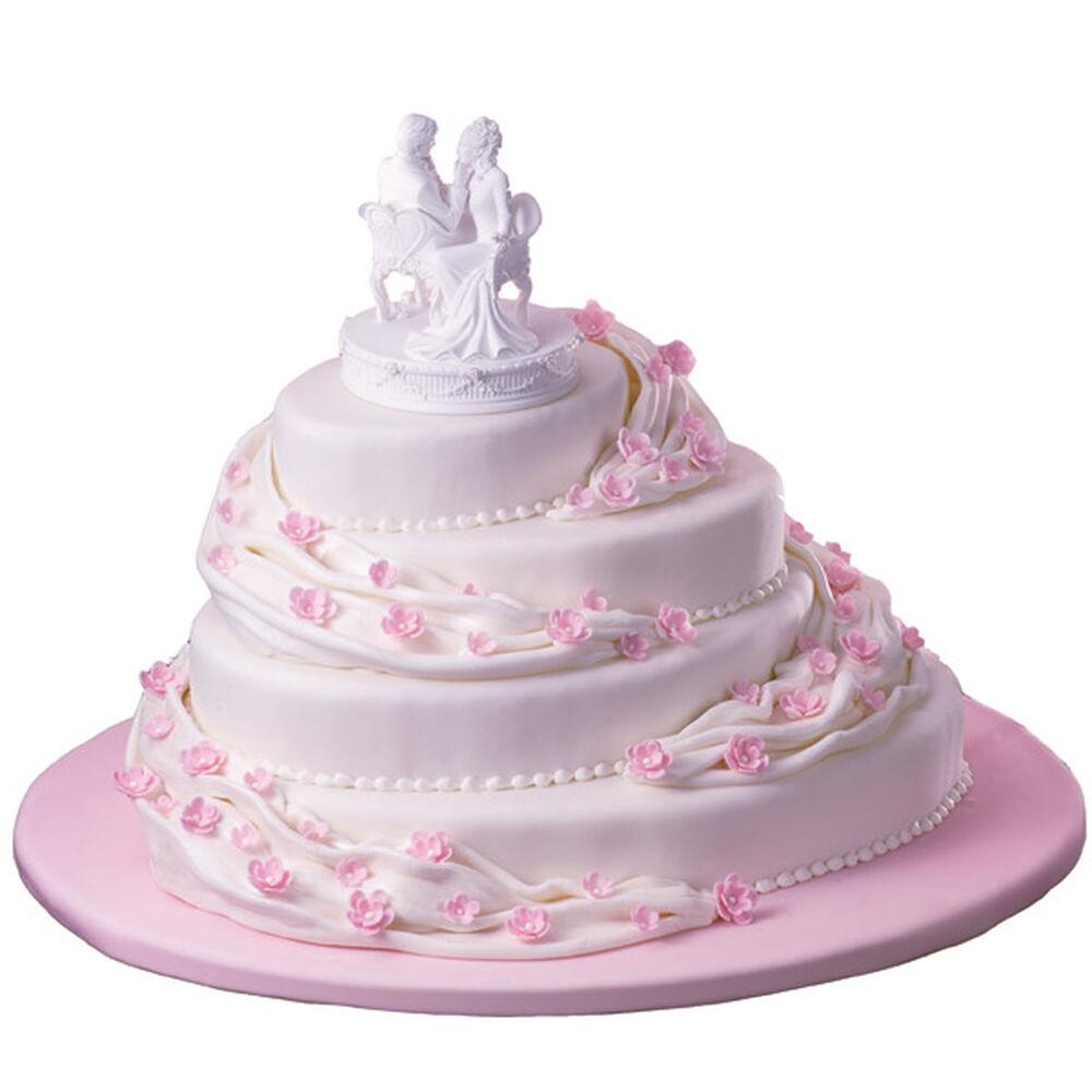 Pleated Pathways Cake Wilton