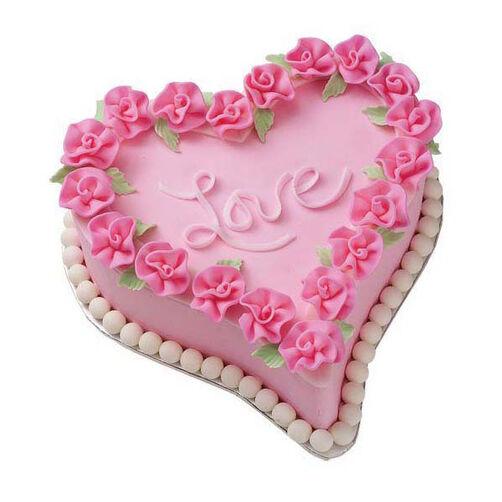 Ruffled Rose Romance Cake