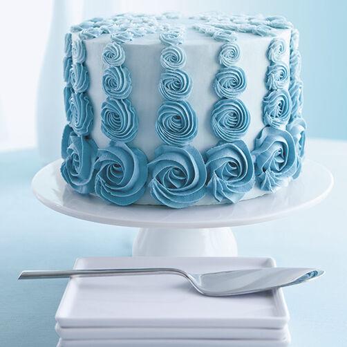 Teal Rosette Ombre Cake Wilton