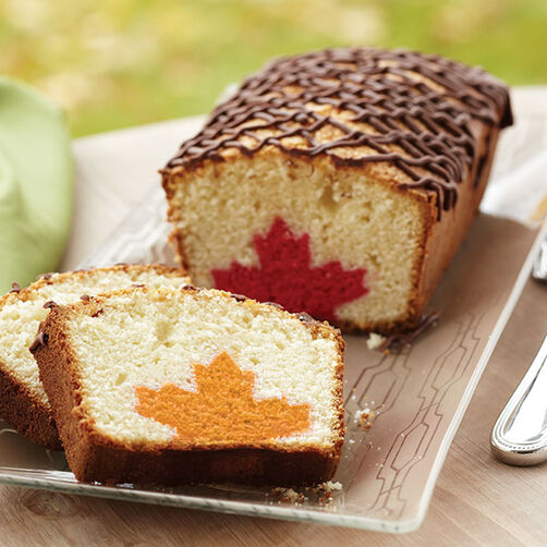 Leaf Inside Loaf Cake