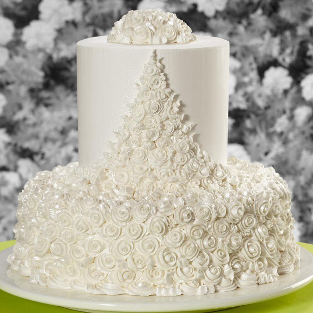 Ribbon Roses Wedding Cake Wilton