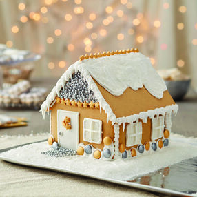 More Bling at the Holidays House Gingerbread House