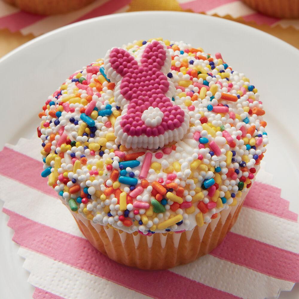 Cupcake Decorating Ideas With Sprinkles : Sprinkle Bunny Cupcakes Wilton