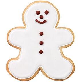 Snowman Gingerbread Boy Cookie