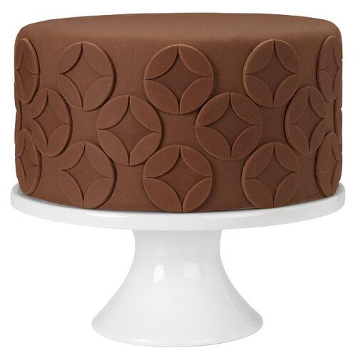 Crescent Overlay Chocolate Fondant Cake