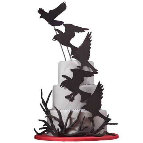 Raven-ous Halloween Wedding Cake