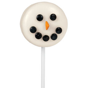 Sunny Snowman Face Cookie Pops