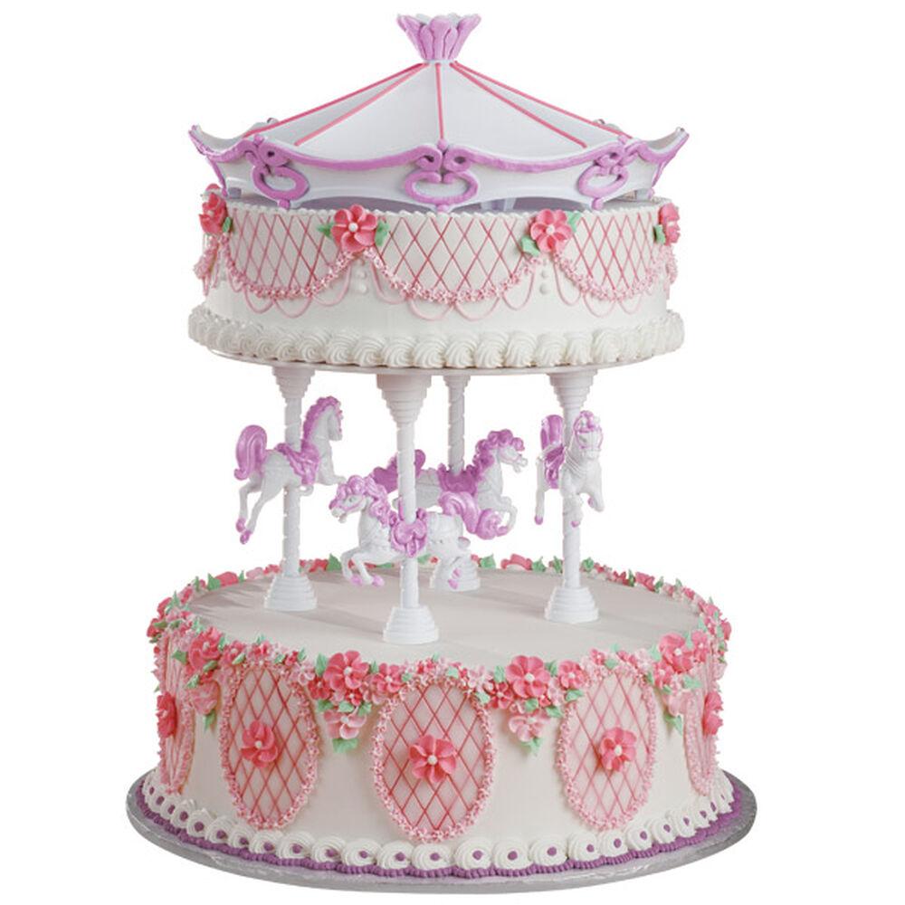 Round Cake Design Ideas : Princess Merry-Go-Round Cake Wilton