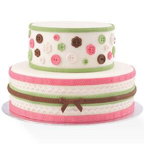 Fabric-Inspired Fondant Cake