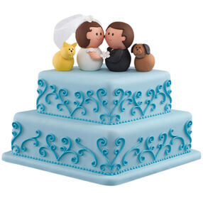 Black Tie and Tails Wedding Cake