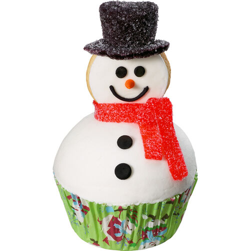 Best-Dressed Snowman Cupcake