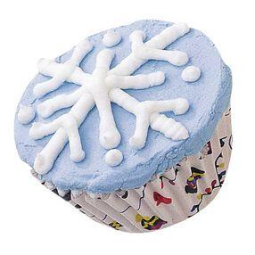 Falling Snowflakes Cupcakes