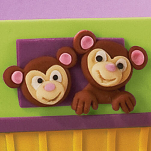 How to make Fondant Monkey Faces