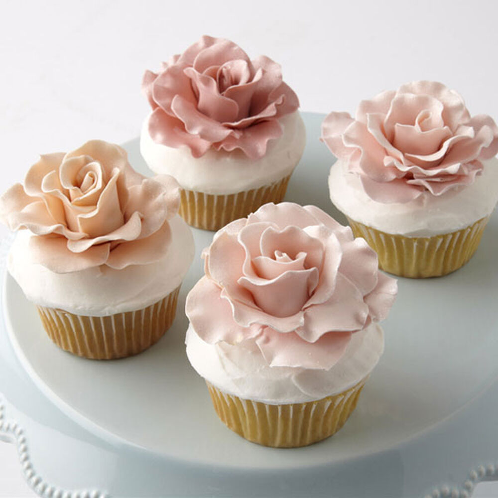 Love In Bloom Rose Topped Cupcakes Wilton
