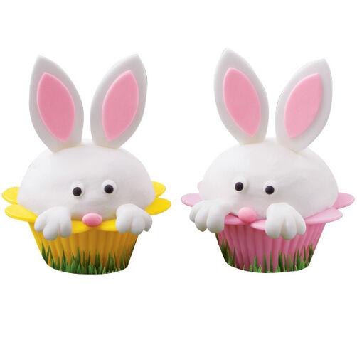 Peek-a-Book Bunny Cupcakes