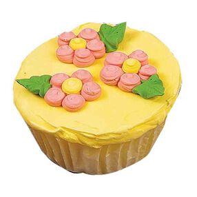 Dot Flower Cupcakes