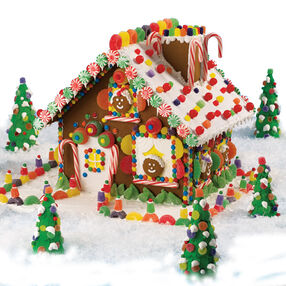 High-Voltage Christmas Gingerbread House