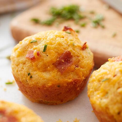 Bacon Cheddar Chive Corn Muffins | Wilton