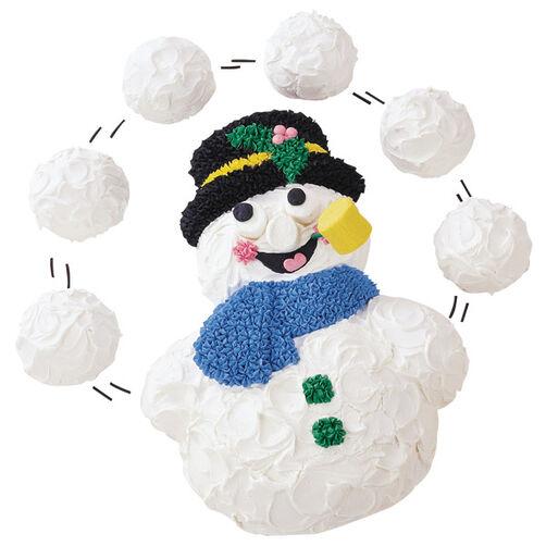 A Snowball Effect Cake