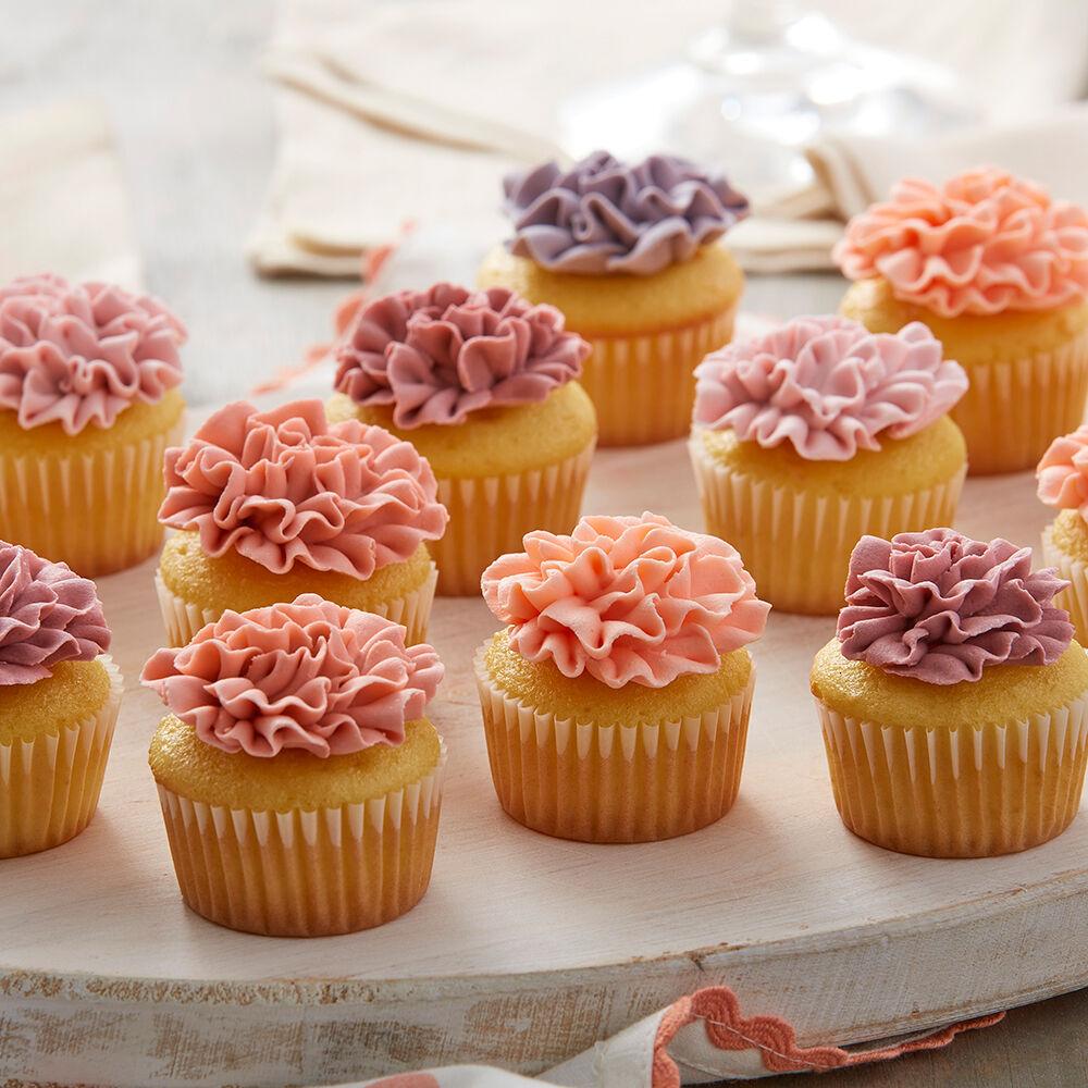Carnation Mini Cupcakes Wilton