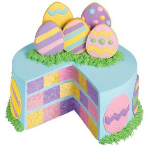 Pastel Pastures Checkerboard Cake