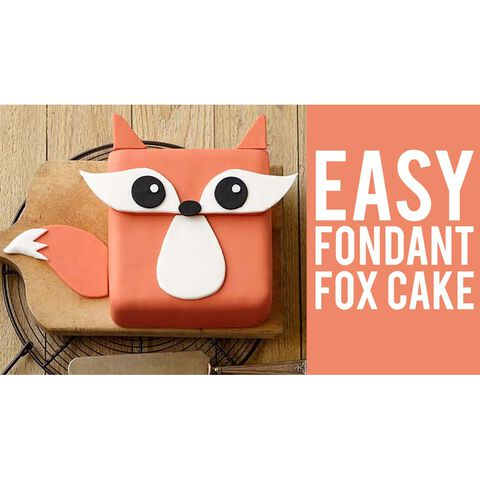How to Make an Easy Fondant Fox Cake