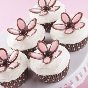 Precious Candy Petal Cupcakes