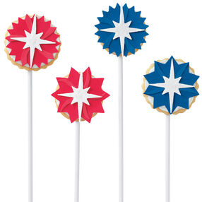 Red, White & Blue Star Pop Cookies